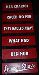 burma shave slogans, roadside americana, burma shave signs