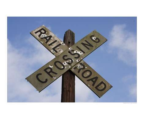 burma shave jingles, burma shave, railroad crossing sign